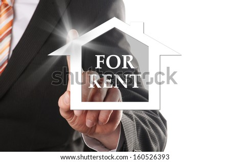 house for rent, buyers realized his dream of his own house - stock photo
