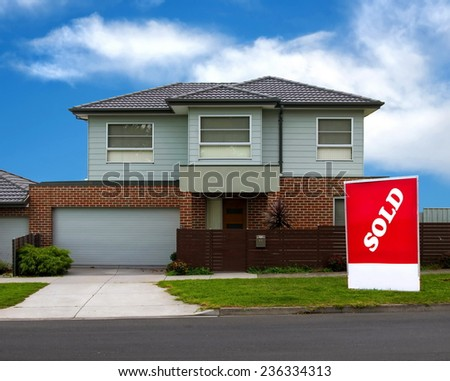 house for sale. realestate concept - stock photo