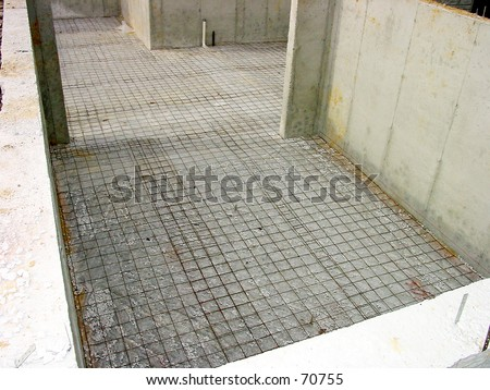 House Foundation Construction - stock photo