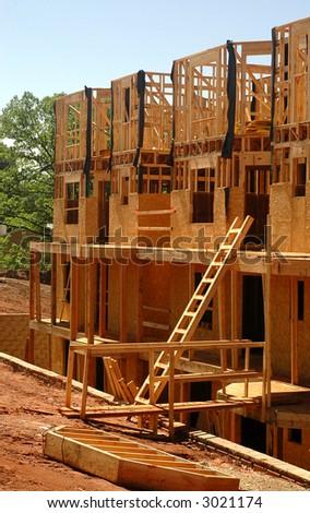 House framing detail - stock photo