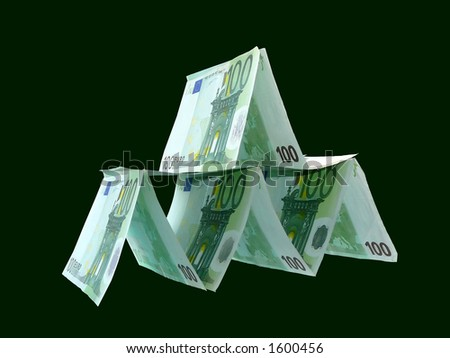 House from money - stock photo