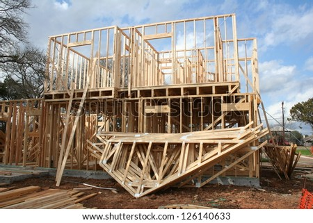 house going up - stock photo