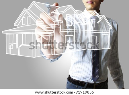 house ,hands - stock photo