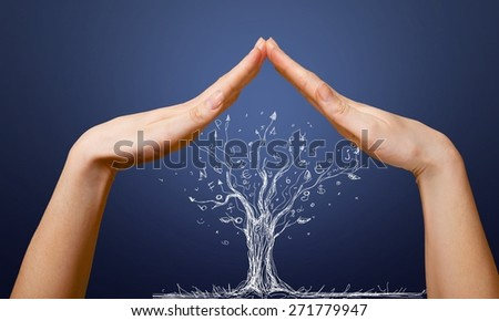 House. Home symbol insurance family real estate concept - stock photo