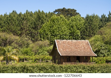 House in Canela - Rio Grande do Sul - Brazil - stock photo