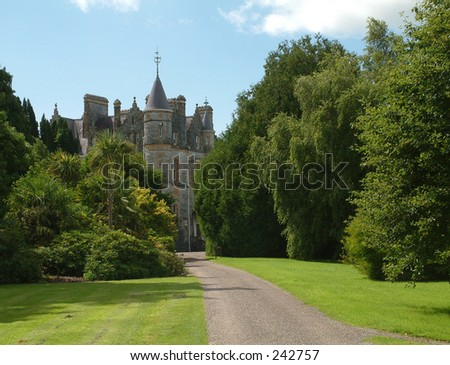 House in grounds of Blarney Castle, Cork, Ireland - stock photo