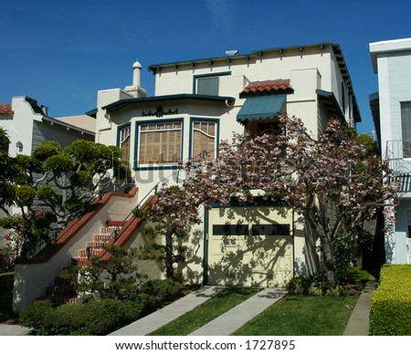 House in Marina district, San Francisco - stock photo