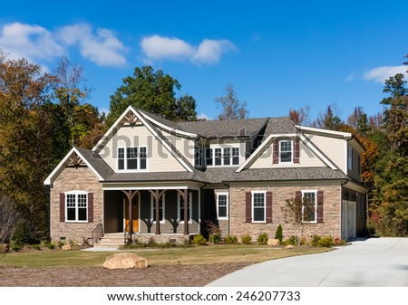 House in Raleigh suburb - stock photo