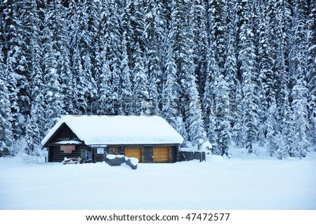 House in snow area - stock photo
