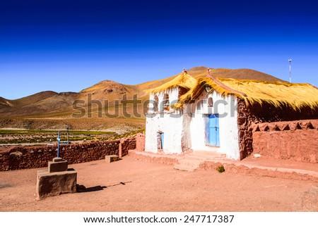 House in the San Pedro de Atacama town, Atacama desert, Chile - stock photo
