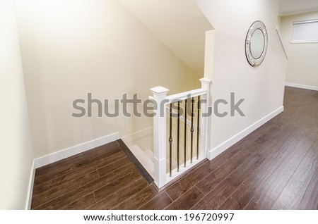 House interior of modern stairs - stock photo