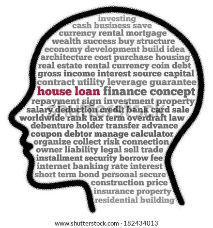 House loan in words cloud - stock photo