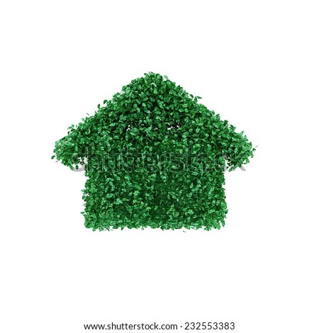 House made of grass - stock photo