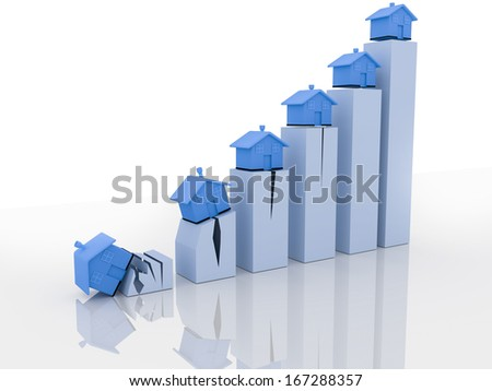 House market decline - stock photo