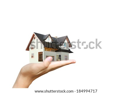 House model house concept in the hand  - stock photo