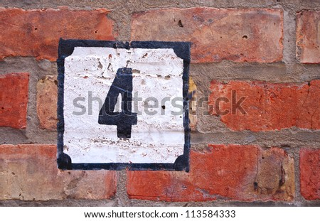 house number - stock photo