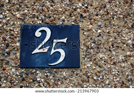 house number 25 - stock photo