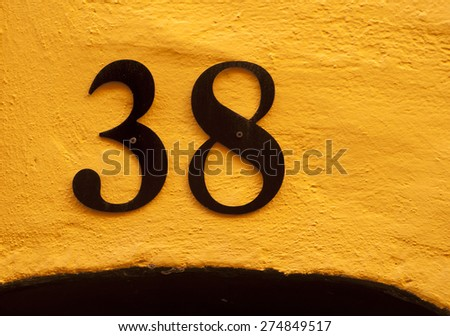 House number 38 - stock photo