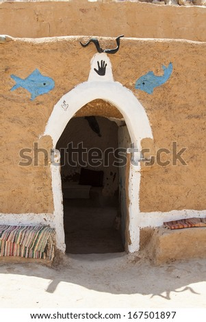 House of Berbers in Sahara desert - stock photo