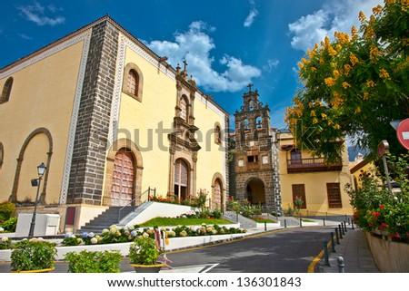 "House of Culture ""Casa de la Cultura San Agustin"" in Orotava, Tenerife, Canary Islands. Spain. - stock photo"