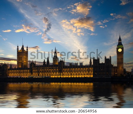 House of Parliament in London, United Kingdom - stock photo