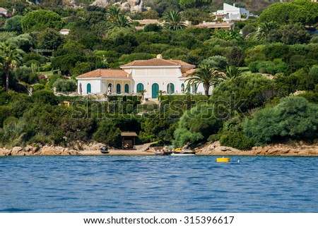 House of Rafael, Porto Rafael, Sardinia, Punta Sardegna - stock photo