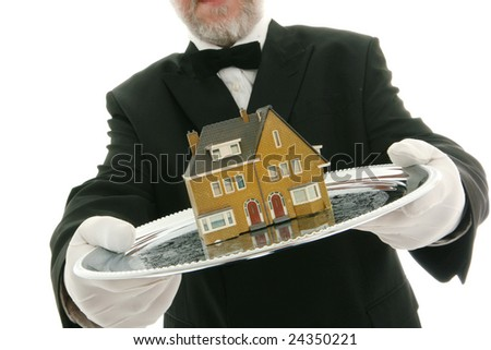House on a tray - stock photo