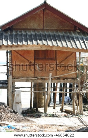 House on the beach - stock photo