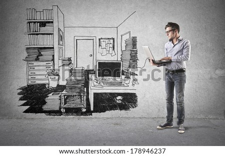 house online - stock photo