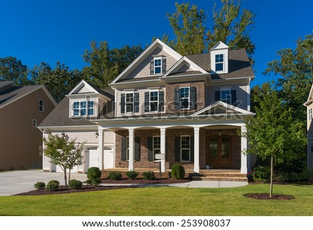 House opened for visitors - stock photo