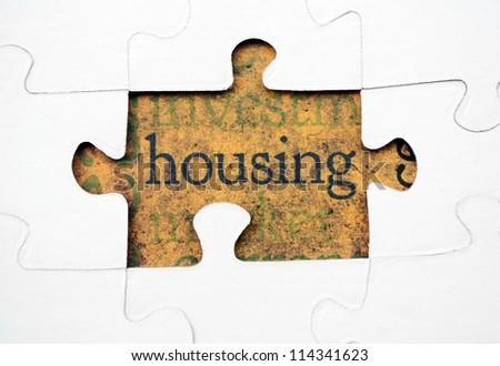 house puzzle - stock photo