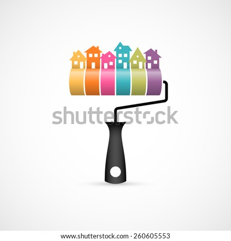 House renovation icon. - stock photo