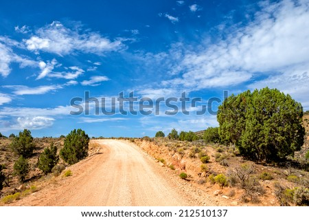 House Rock Road winds through the Paria Canyon-Vermilion Cliffs Wilderness. - stock photo