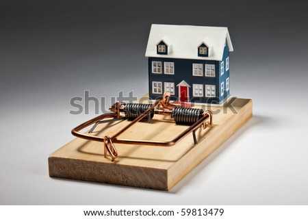 House Mouse Trap House Sitting on Large Mouse