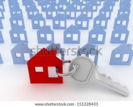 house specially for you. 3d illustration on white background. - stock photo