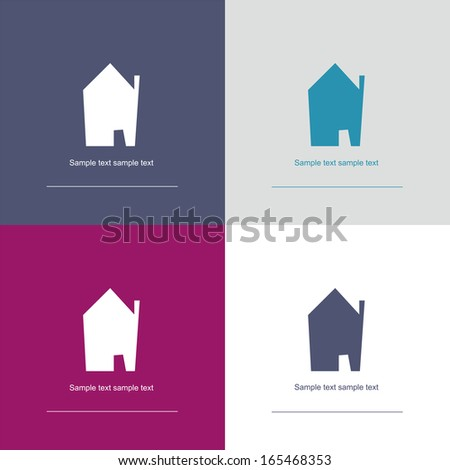 house symbol illustration - corporate / real estate - stock photo