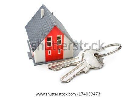 House with keys, home buying, ownership or security concept - stock photo