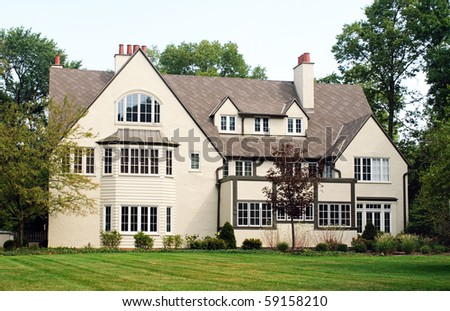 House with Many Windows - stock photo