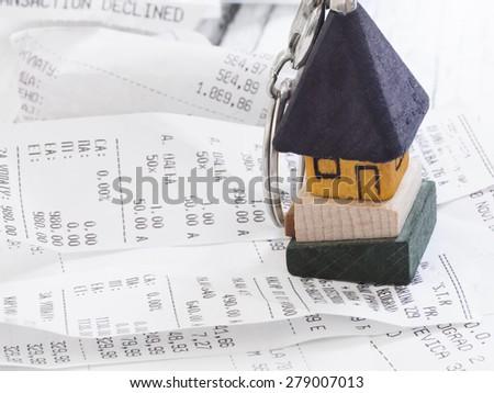 household expenses - stock photo