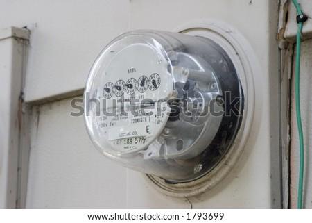 household power usage meter - stock photo
