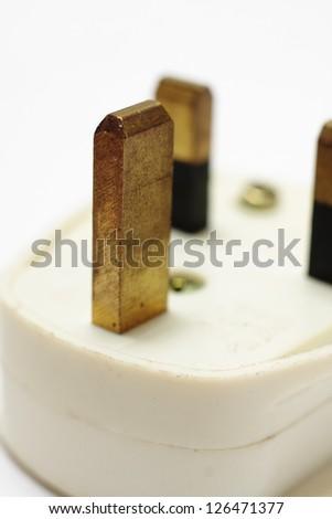 Household UK three pin plug - stock photo