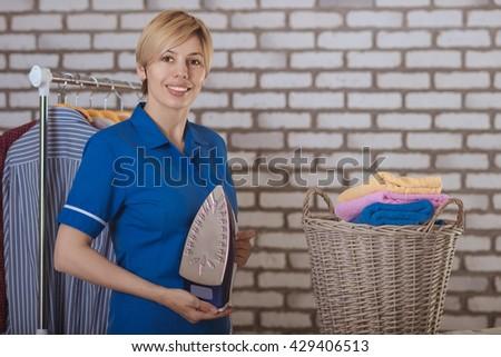 housemaid - stock photo