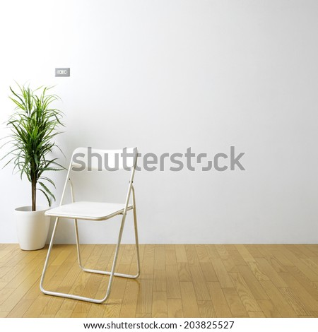 houseplant with chair  - stock photo
