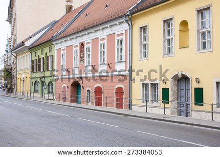 Houses in Budapest - stock photo
