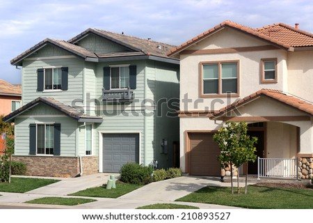 Houses in suburban neighborhood  - stock photo