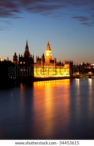 Houses of Parliament and Big Ben - stock photo
