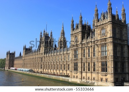 Houses of Parliament in London, UK - stock photo