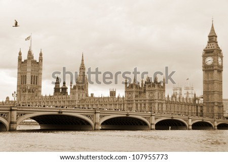 Houses of Parliament, London, England - stock photo