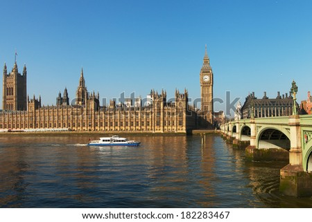 Houses of parliament, London, United Kingdom. - stock photo