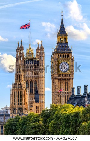 Houses of Parliament, Westminster, London, UK - stock photo